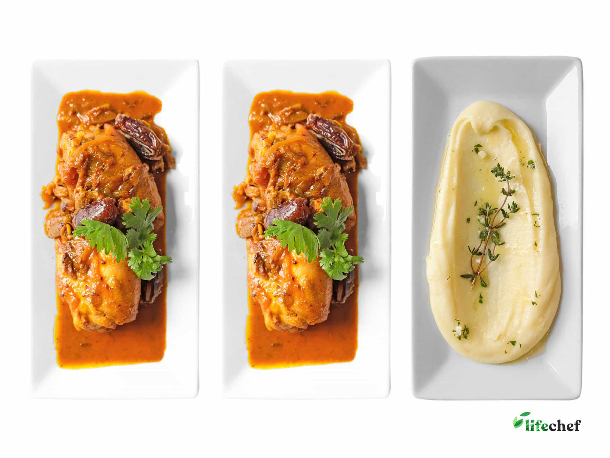 Moroccan Chicken, Moroccan Chicken, Yukon Potato Puree